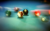 Billiard table vintage background