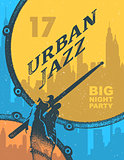 Urban jazz. Art concept.