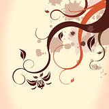 Brown floral background