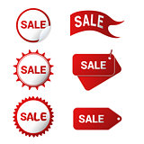 Six sale icons