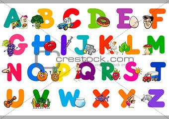 cartoon alphabet for children