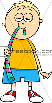 boy with jelly candy cartoon