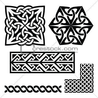 Celtic Irish and Scottish patterns - knots, braids, key patterns