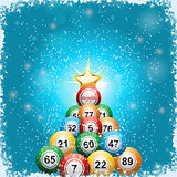 Bingo ball Christmas tree background
