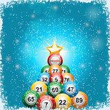 Bingo ball Christmas tree background