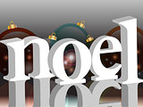 Noel background with baubles