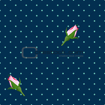 Abstract seamless background. Flowers
