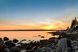 Beach at Sunset (long shutter speed)