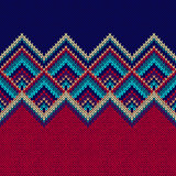 Seamless Pattern. Knit Woolen Trendy Ornament