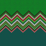 Seamless Christmas geometric knitted pattern