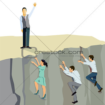 Business ascent upwards climb