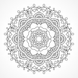 Mandala. Ethnic decorative elements