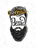 Decorate your xmas beard template design