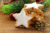 gingerbread cookies with white icing for Christmas dessert