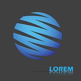 Globe logo design.