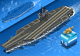 Aircraft Carrier 03 Vehicle Isometric