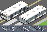 Airport Bus 03 Vehicle Isometric