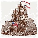 American Vessel 01 Vintage 2D