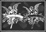 Angel Banner 01 Vintage Blackboard 2D