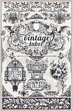 Banners Labels 01 Vintage 2D