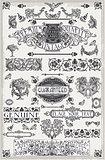 Banners Labels 04 Vintage 2D
