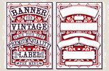 Banners Labels 06 Vintage 2D