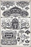 Banners Labels 07 Vintage 2D