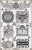 Banners Labels 08 Vintage 2D