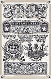 Banners Labels 10 Vintage 2D