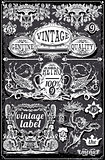 Banners Labels 18 Vintage Blackboard 2D