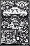 Banners Labels 18 Vintage Blackboard 2D