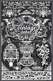Banners Labels 21 Vintage Blackboard 2D