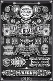 Banners Labels 27 Vintage Blackboard 2D