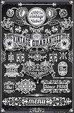 Banners Labels 27 Vintage Blackboard 2D