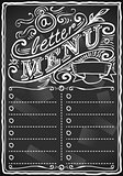 Bar Menu 08 Vintage Blackboard 2D