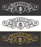 Belgium Label 01 Vintage Blackboard 2D