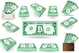 Bitcoins Set 01 Banknotes 2D