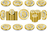 Bitcoins Set 02 Banknotes 2D