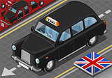 Black Taxi 01 Vehicle Isometric