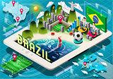 Brazil App Infographic Isometric