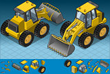 Bulldozer 01 Vehicle Isometric
