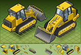 Bulldozer 02 Vehicle Isometric