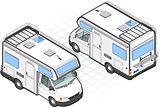 Camper 01 Vehicle Isometric