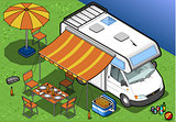 Camper 02 Vehicle Isometric