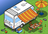Camper 03 Vehicle Isometric