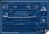 Cargo Ship 01 Blueprint 2D