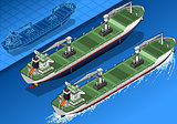 Cargo Ship 01 Vehicle Isometric