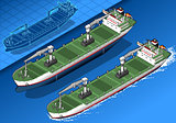 Cargo Ship 02 Vehicle Isometric