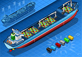 Cargo Ship 03 Vehicle Isometric