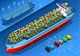 Cargo Ship 04 Vehicle Isometric